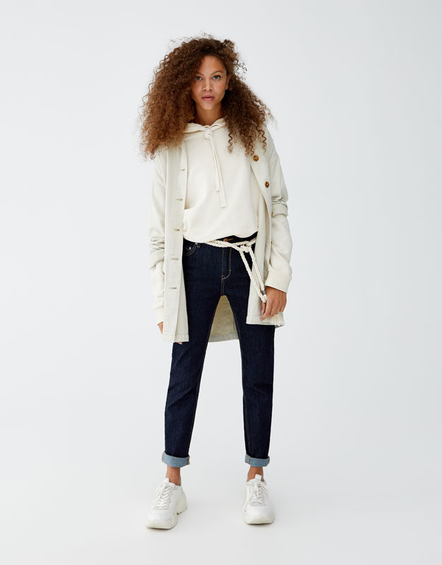 High Waist Slim Fit Jeans by Pull & Bear
