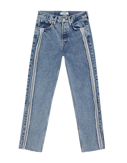 Mom jeans with side seams