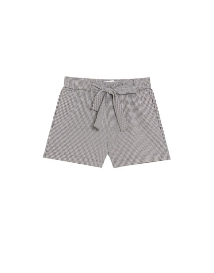 Gingham jogging Bermuda shorts