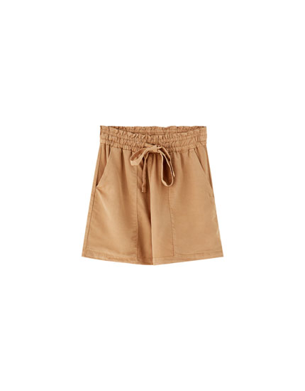 Plain paperbag shorts