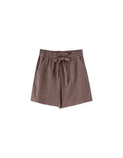 Plain paperbag shorts