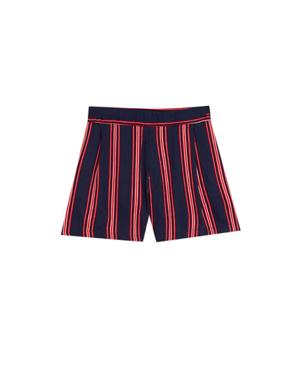 Striped tailored Bermuda shorts