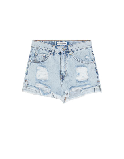 Denimshorts mom fit