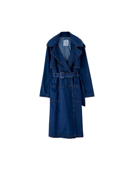 Trench aus Denim