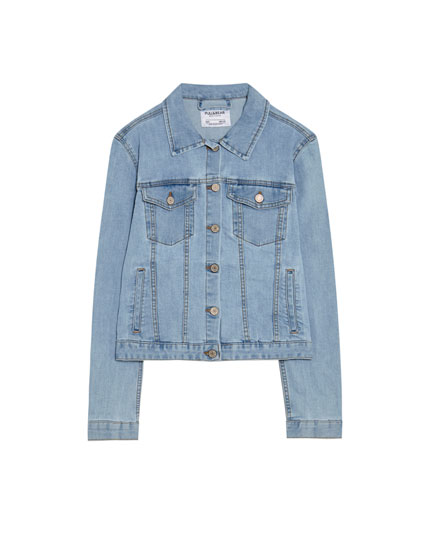 Fitted denim jacket