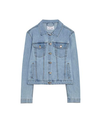 Pieguloša džinsa jaka