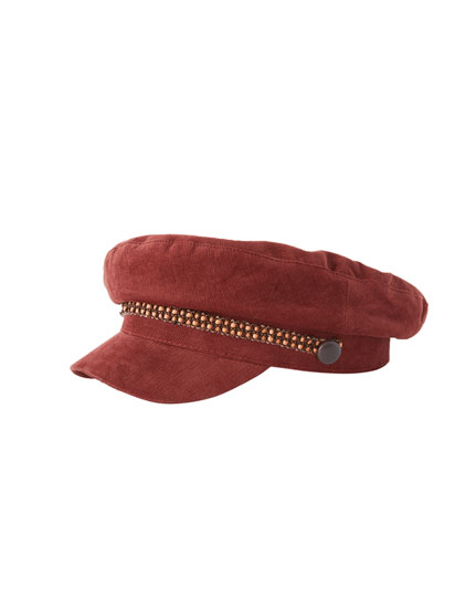 Corduroy nautical cap
