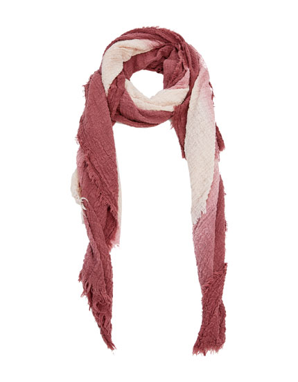 Two-tone cotton scarf