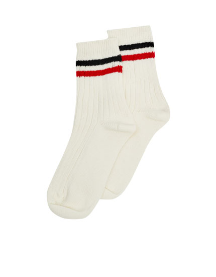 Vintage-style sports socks
