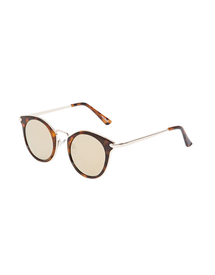 Metallic tortoiseshell sunglasses