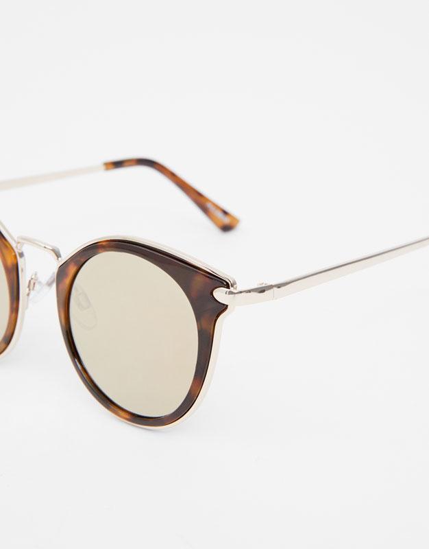 ce9d506fef Μεταλλικά γυαλιά ταρταρούγα - PULL BEAR