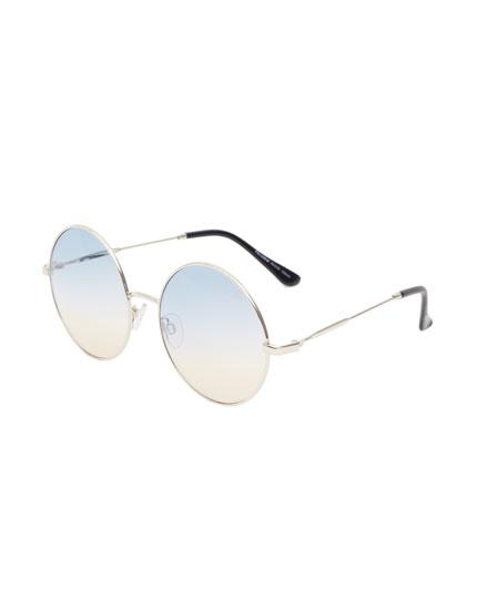 Gafas de sol redondas lentes degradadas