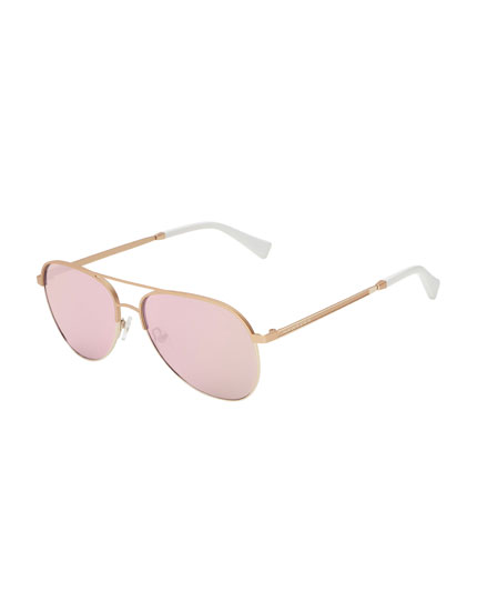 Hawkers Gold Light Purple Lacma Sunglasses