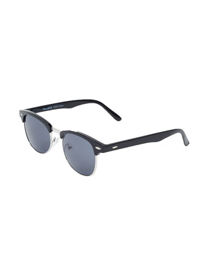 Half-rim sunglasses