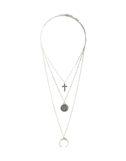 3-pack of cross pendant necklaces