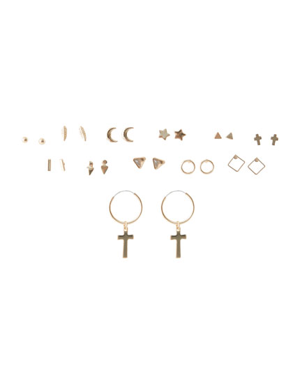 12-pack of motif earrings