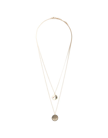 2-pack of gold coin necklaces