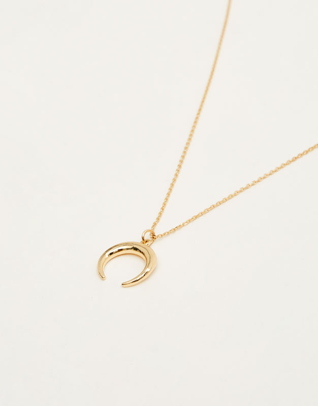 Half moon pendant necklace pullbear aloadofball Images
