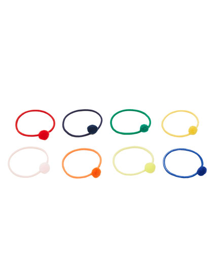 Pack of hair elastics