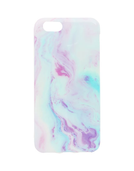Marble-effect phone case