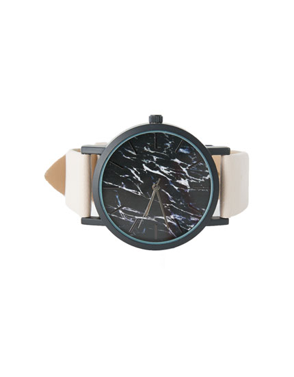 Marble print watch