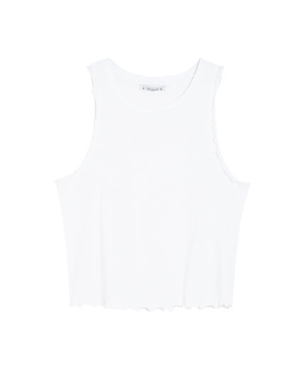 Basic vest top with trim
