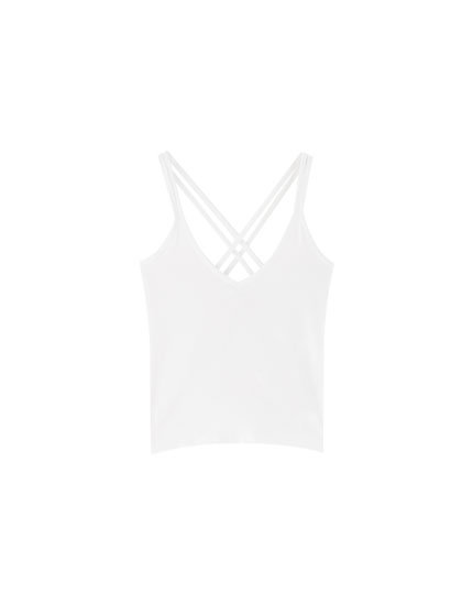 Basic top with criss-cross straps
