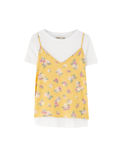 2 in 1 Shirt mit Blumenprint