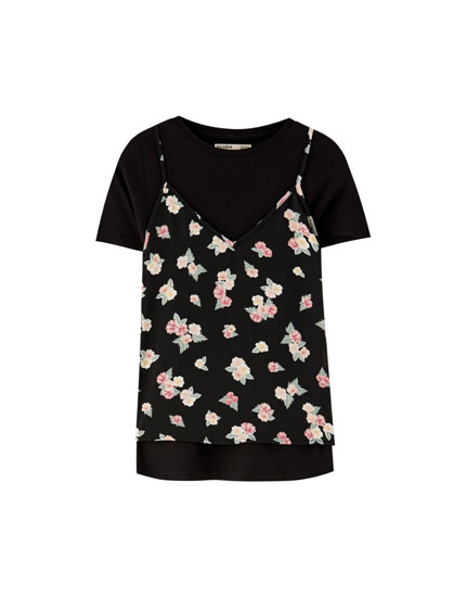 2 in 1 floral top
