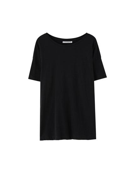 Basic-Baumwollshirt