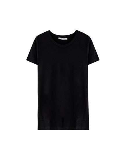 Basic-Shirt mit breitem Rippenmuster