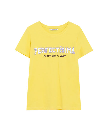 Slogan cotton T-shirt