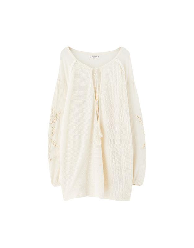 Häkel-Shirt im Boho-Stil - PULL BEAR 372e17aac6
