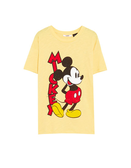 T-shirt Mickey de manga curta