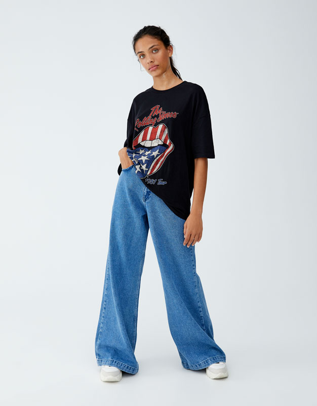 Tricou Rolling Stones Usa by Pull & Bear