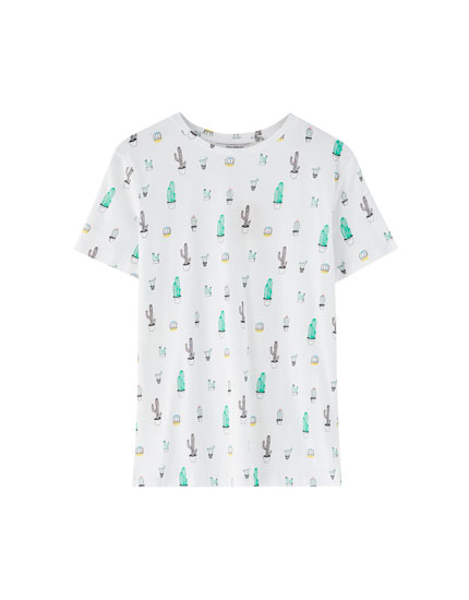 T-shirt with all-over figure print