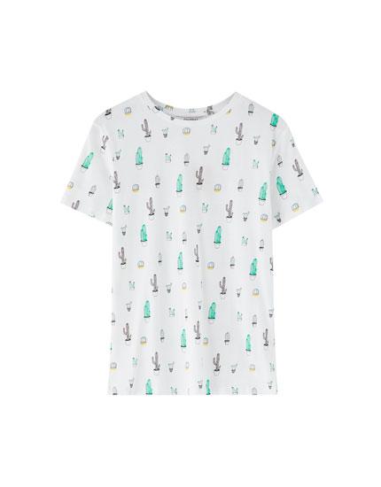 T-shirt med figurer