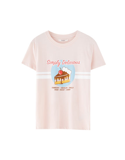 T-shirt with food design