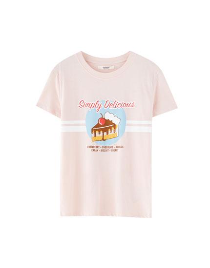Camiseta ilustración comida