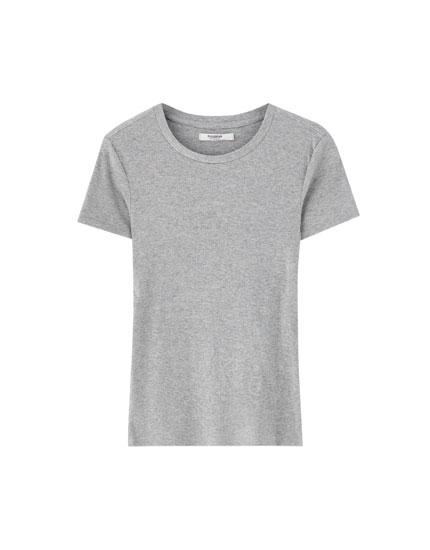 Camiseta básica canalé