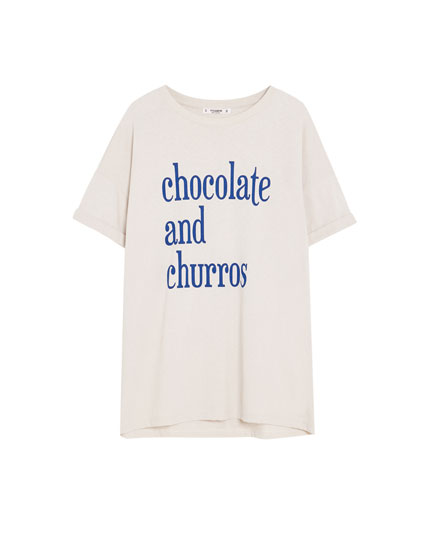 "Shirt ""Chocolate and Churros"""