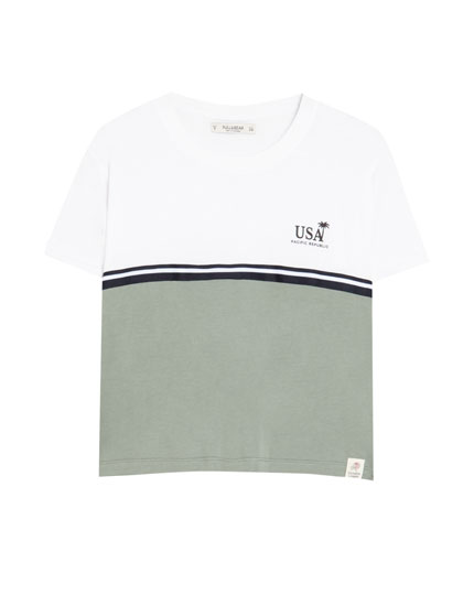 Panelled surf T-shirt
