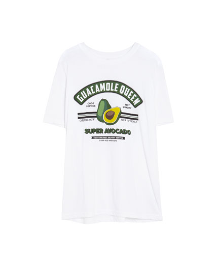 cb05cde6b T-shirt with avocado design - PULL BEAR