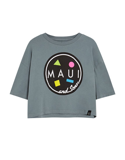 Grey 'Maui & Sons' T-shirt