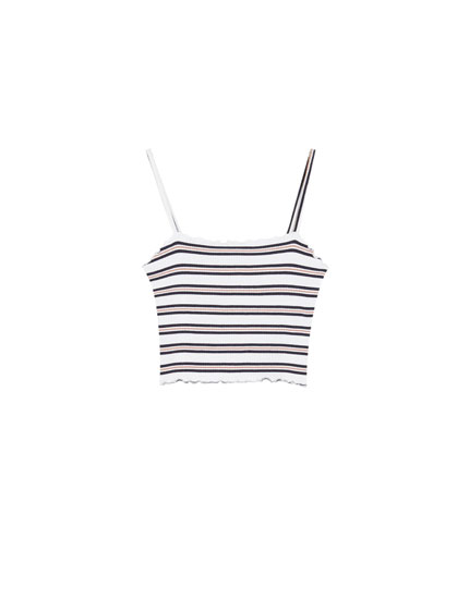Striped strappy top