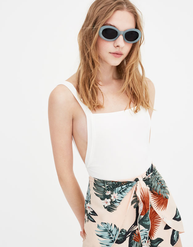 Pull & Bear - Bodysuit with straps and square-cut back - 2