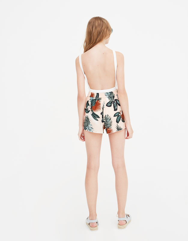Pull & Bear - Bodysuit with straps and square-cut back - 4