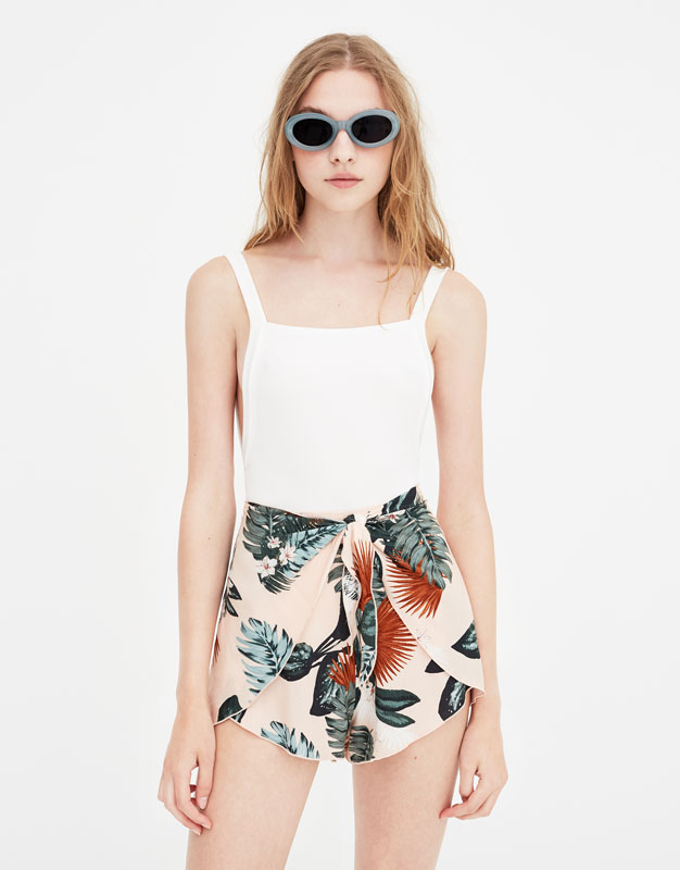 Pull & Bear - Bodysuit with straps and square-cut back - 5