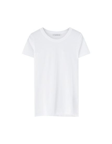 Basic wide trim T-shirt