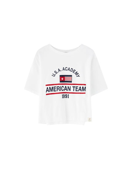 Playera 'American Team'